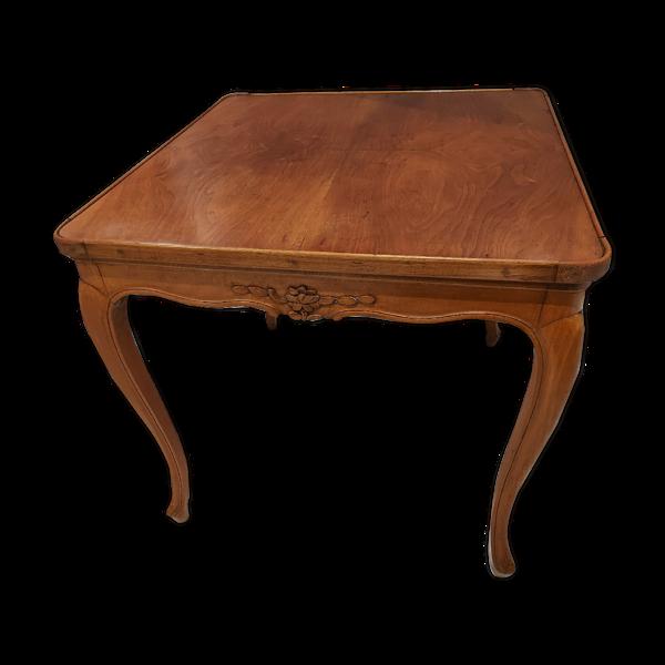 Selency Table de jeu Louis XV en noyer 19eme