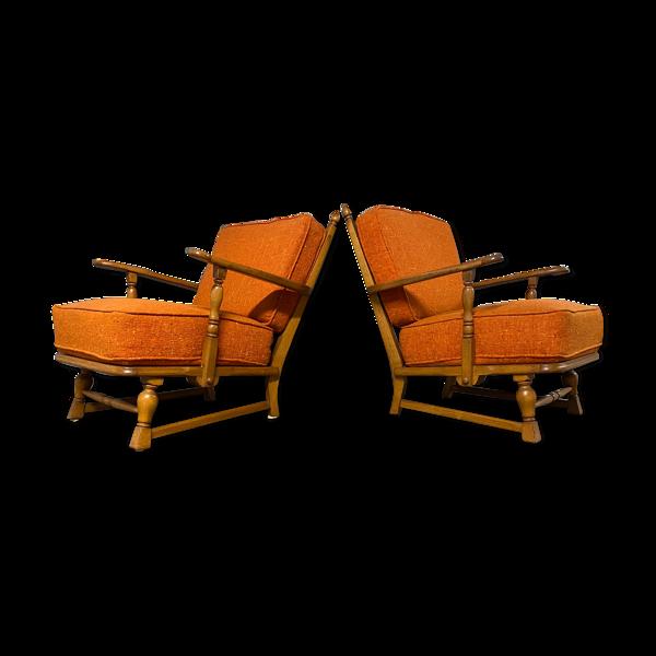 Paire de fauteuils vintage  1950s