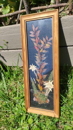 Cadre vintage fleurs séchées