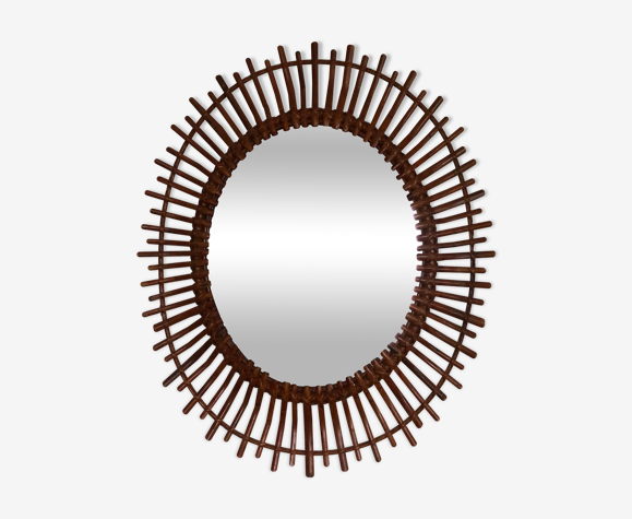 Miroir rotin 77x65cm