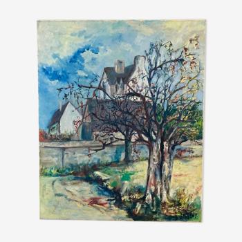 Huile sur toile impressionniste de Gérard Jasseny