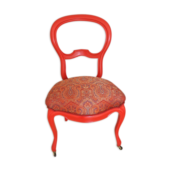 Chaise style Louis Philippe rouge