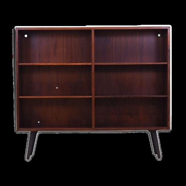 Bibliothèque en bois de rose, design danois, années 70, production: Brouer Møbelfabrik