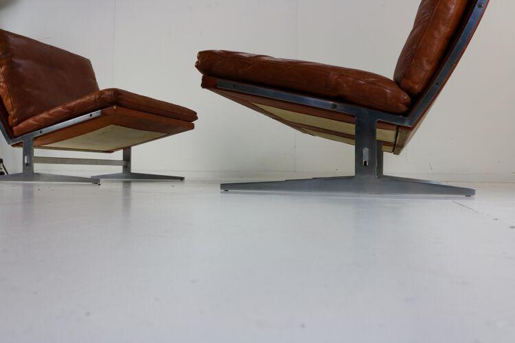 Canapé  en place par Preben Fabricius et Jørgen Kastholm