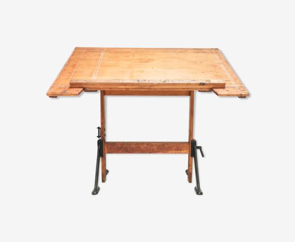 Vintage British Made Admel Architecte Dessinateurs Bureau Table de carte