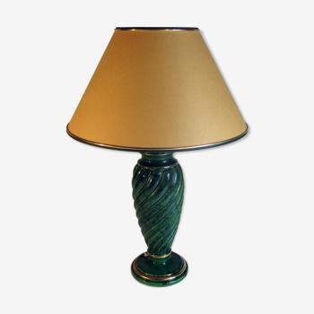Lampe en céramique verte