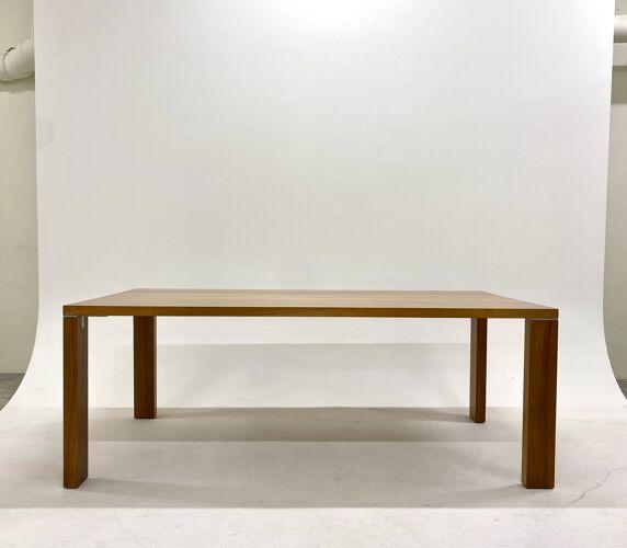 Walnut dining table by Didier Gomez edition Ligne Roset