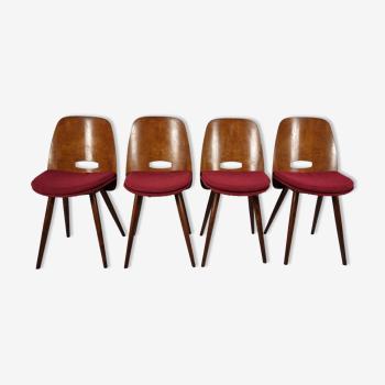 Chaises à manger vintage, années 1960, ensemble de 4