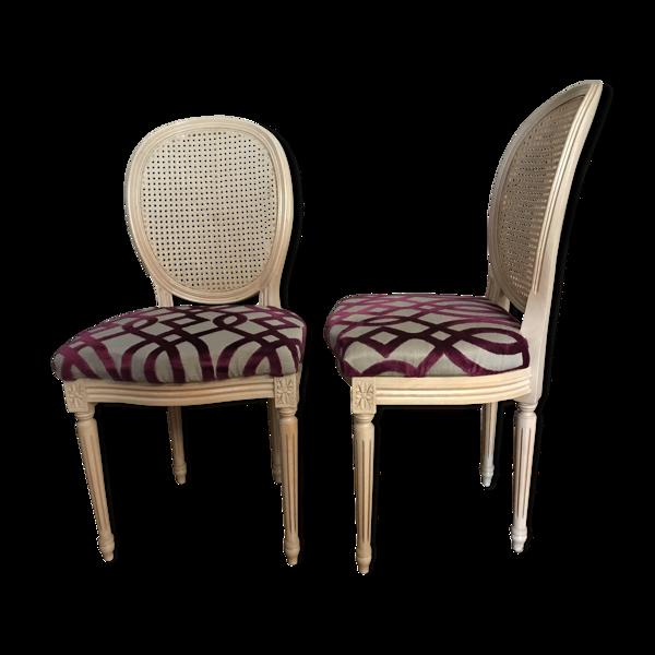 Selency Lot de 2 chaises médaillon