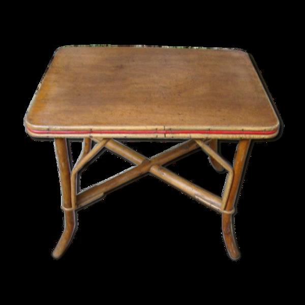 Table basse rotin ancienne