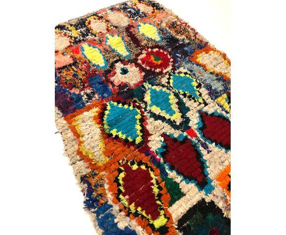 Tapis berbère marocain boucherouite vintage 190x101cm