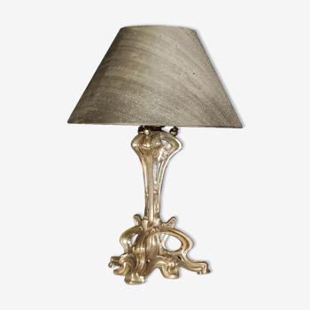 Lampe aux chardons époque Art Nouveau