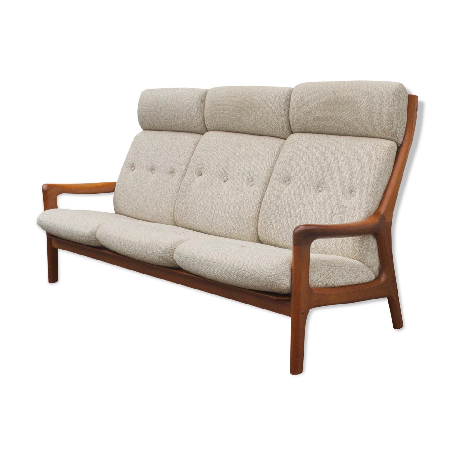 Canapé 3 places en teck du milieu du siècle Gustav Thams pour Vejen Polstermøbel Danemark | années 60