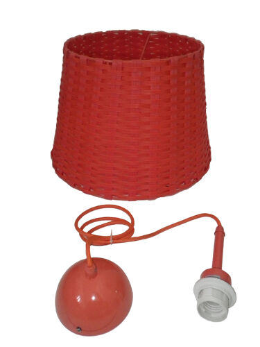 Scoubidou coral braided hanging lamps