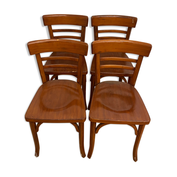 4 chaises de bistrot Baumann