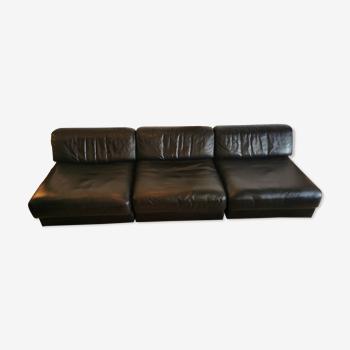 Canapé modulable 3 places DS76 de De Sede