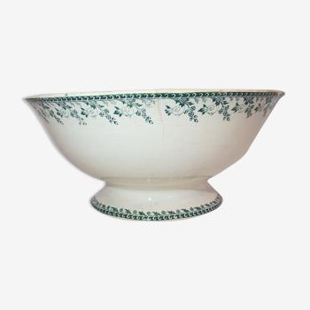 Saladier en porcelaine opaque de Gien modèle Montigny, terre de fer.