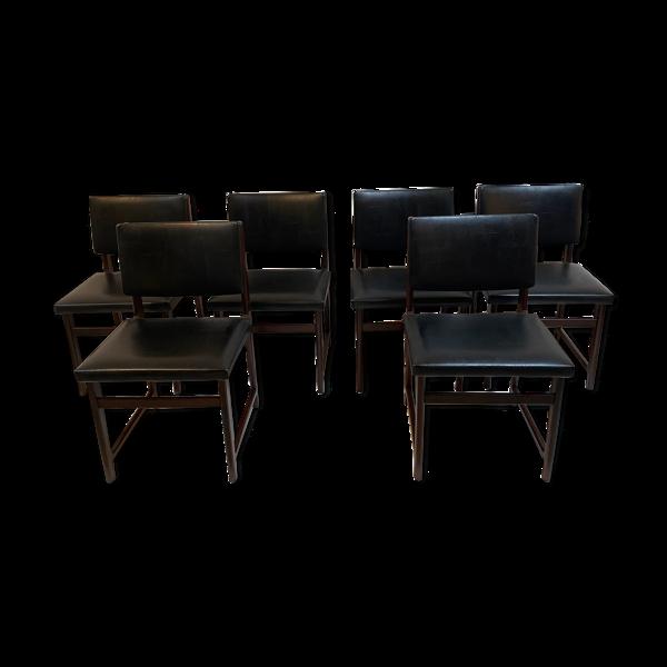 Selency 6 chaises noir en'sky