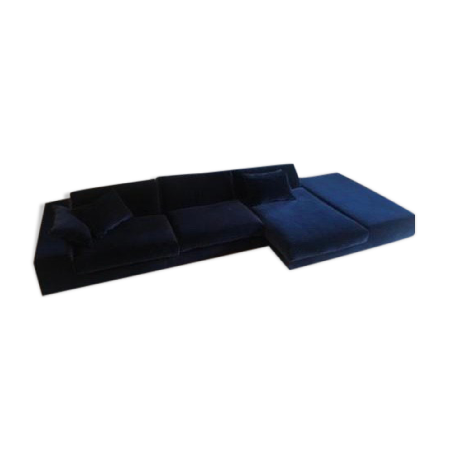 Canapé Roche bobois velours bleu nuit