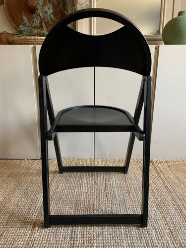 Chaise pliante OTK en bois noir