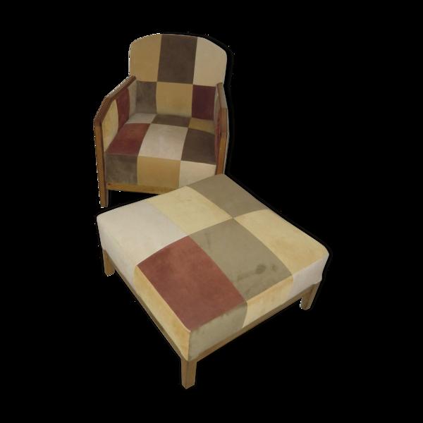 Ensemble fauteuil studio et repose pieds
