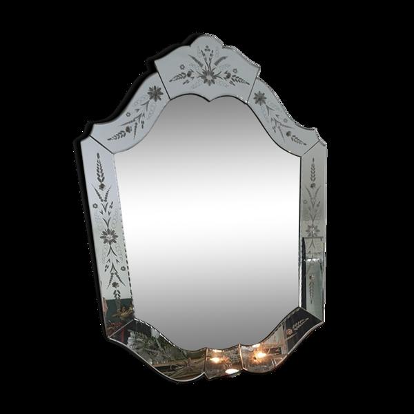 Miroir vénitien vintage 95x67cm