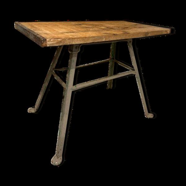 Table bois sur traiteau