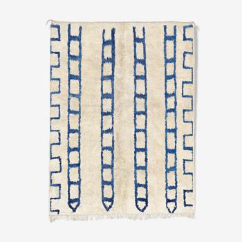 Tapis marocain moderne blanc