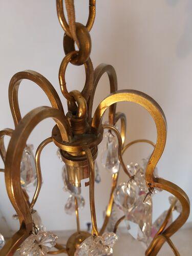 Lustre cristal français 1940