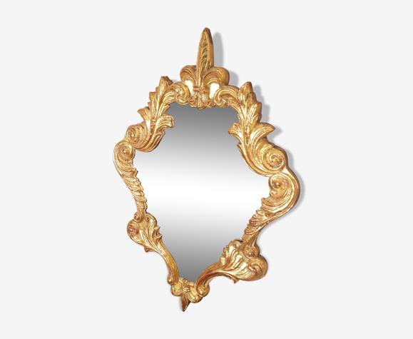 Miroir doré à la feuille d'or 44x64cm