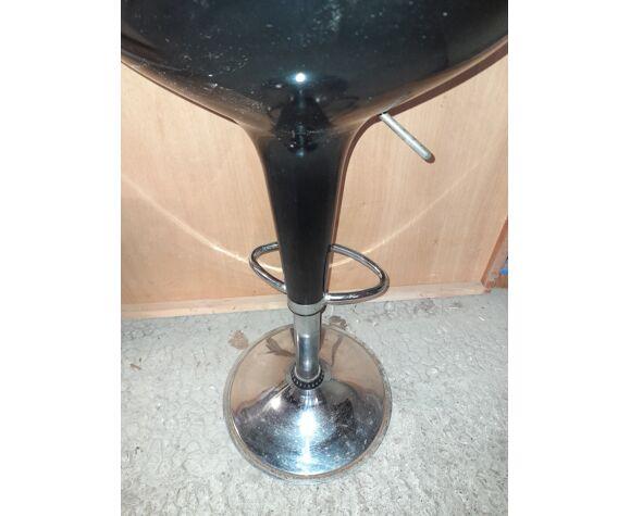 Tabouret de bar vintage en resine et métal