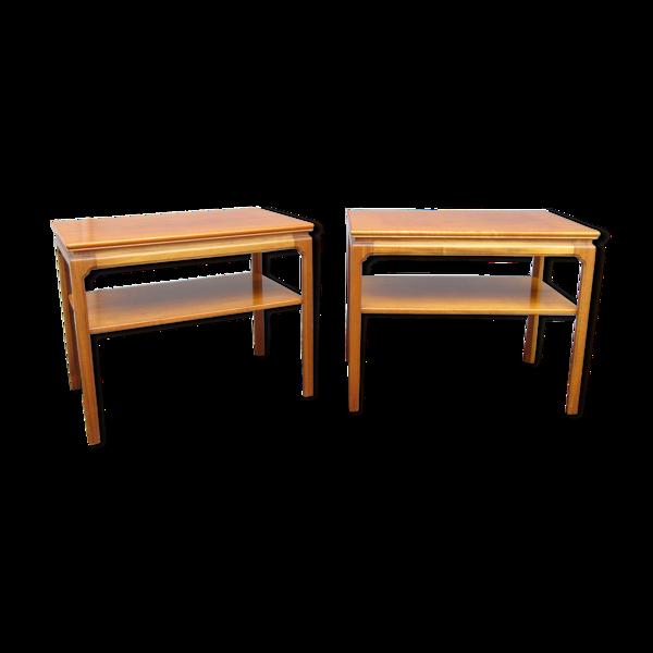 Selency Paire de tables d'appoint ou chevets scandinaves