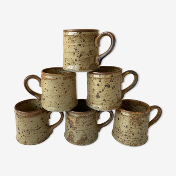 6 tasses à café vintage