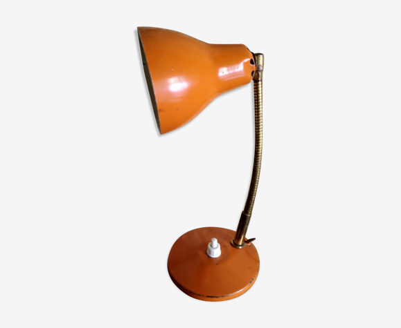Lampe de bureau orange 1960