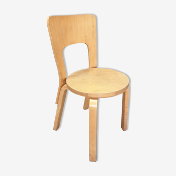 Chaise modèle 66 de Alvar Aalto pour Artek années 1960