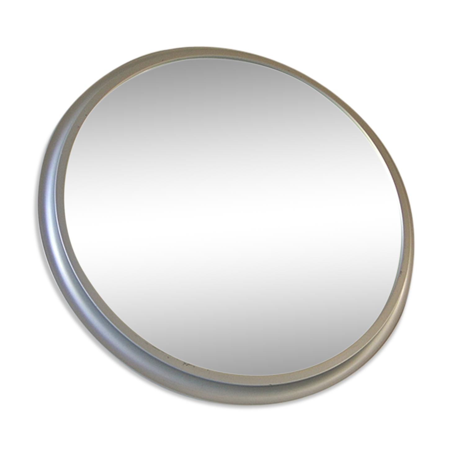 Miroir Pierre Vandel en aluminium argenté