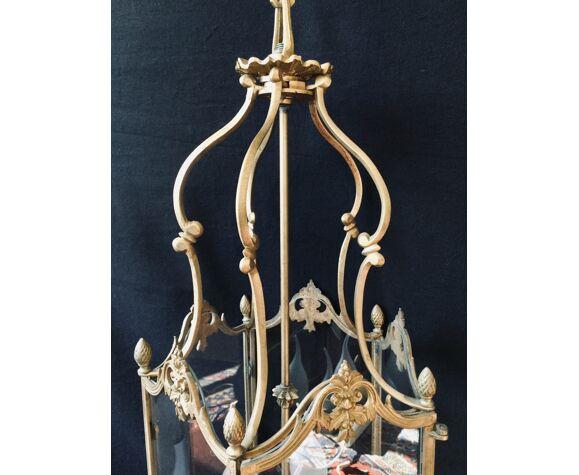 Lanterne 3 Lumières bronze et laiton