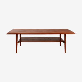 Scandinavian coffee table vintage teak 1960