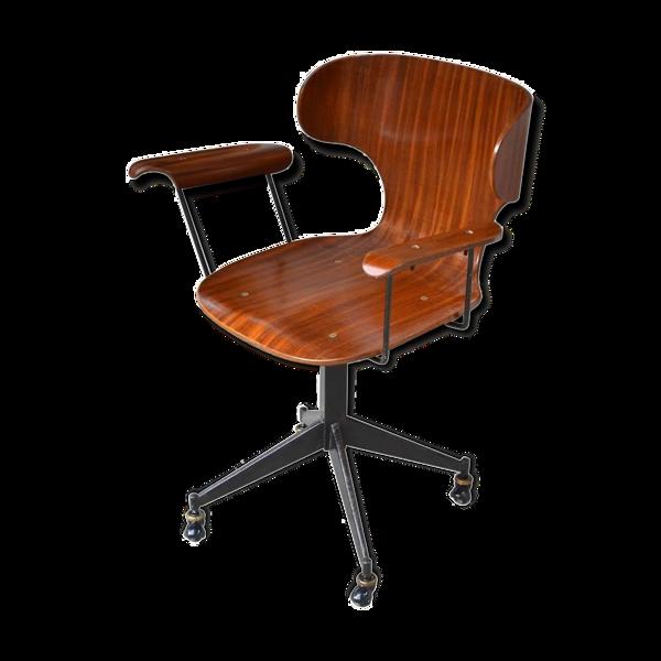 Chaise de bureau Carlo Ratti années 60