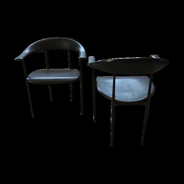 Selency Paire de chaises Fasem par Vegni années 80