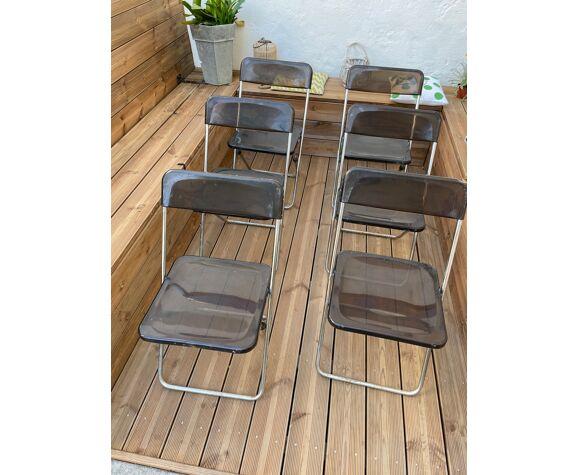 Ensemble 6 chaises plexiglass