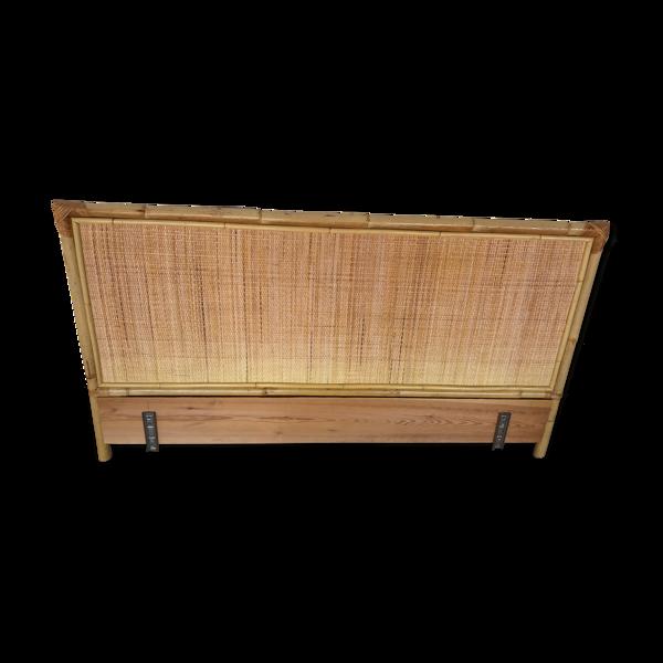 Tête de lit en bambou et rotin tressé