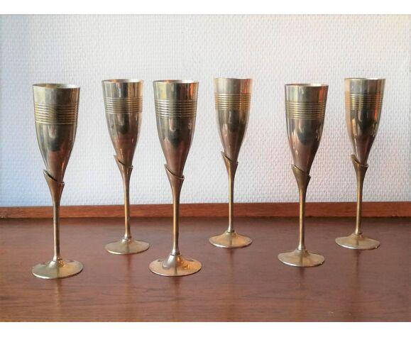 Ensemble de 6 coupes à champagne vintage