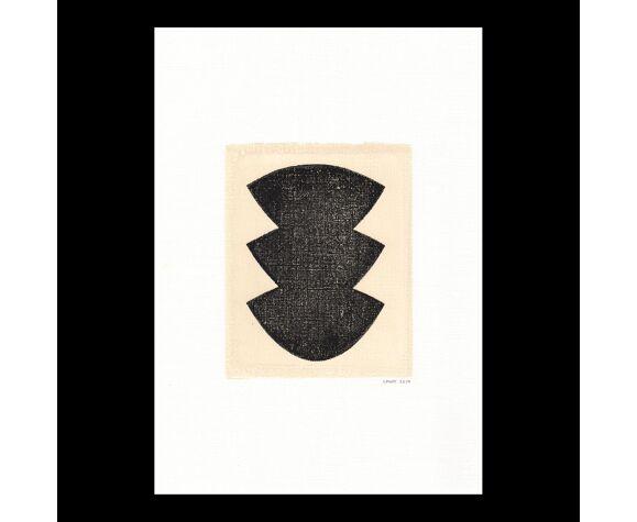 Peinture sur papier Illustration originale  datée et signée
