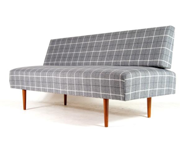 Sofa bed in vintage teak retro Danish design seat bench mid 60s/70s