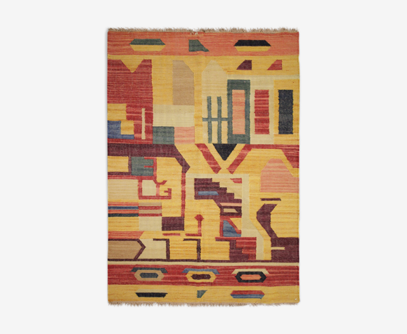 Tapis Kilim abstrait moderne 127x180cm