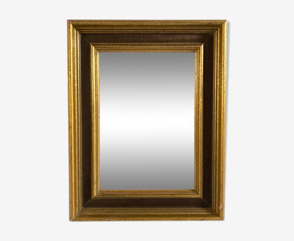 Miroir doré feuille d'or