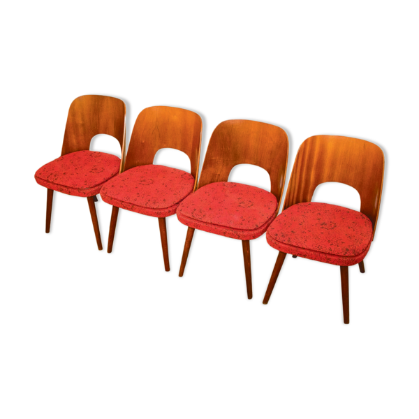 Selency Vintage dining chairs by Oswald Haerdtl for TON, 1950s, set of 4