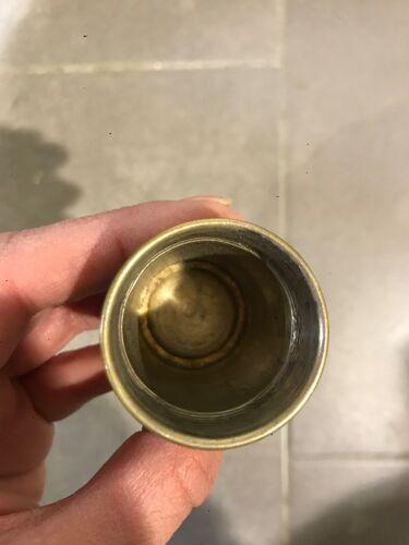 6 verres à liqueur en métal argenté