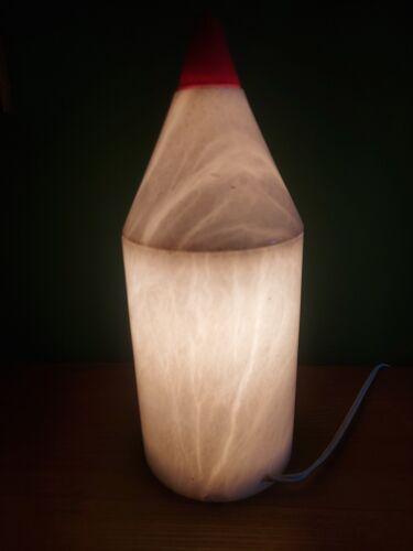 Lampe crayon en marbre
